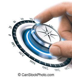 360 grade, marketing, oder, werbung
