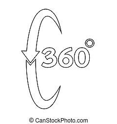 360 grau, ícone