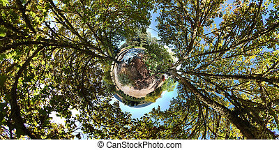 360 Little Planet stereographic projection of a 360x180...