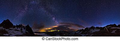 360 Milky way - Extraordinary 360 degree panorama of the...