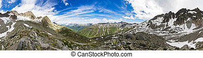 360 Mountain panorama - 360 degree panorama taken in the...