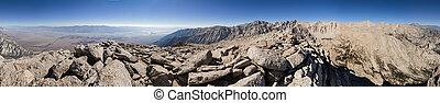 360, panorama de la montaña, grado