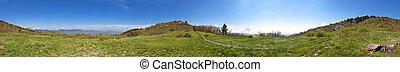360 panorama of north carolina mountains