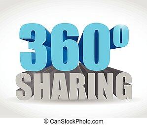 360 sharing sign illustration design