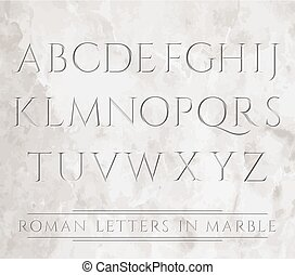 3647 all roman letters - Ancient Roman letters chiseled in...