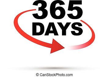 365, 日々, 年, のまわり, 時計