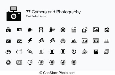37 Camera and Photography Icons - This icon set is designed...