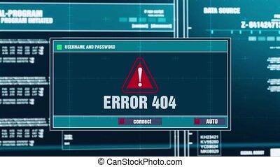 37. Error 404 Warning Notification on Digital Security Alert on Screen.