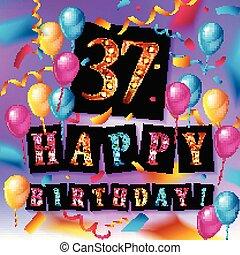 37th Years Anniversary Celebration Design