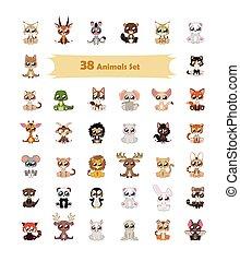 38 Colorful animal illustration