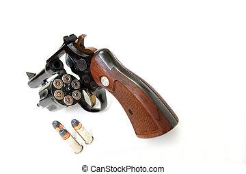 38, munición, calibre, revólver