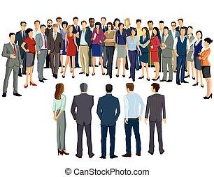 Business meeting participants