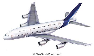 380, aircraft., pasażer
