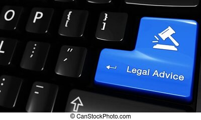 383. Legal Advice Moving Motion On Computer Keyboard Button.