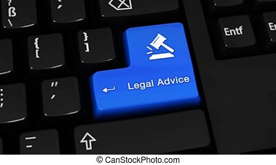 384. Legal Advice Rotation Motion On Computer Keyboard Button.