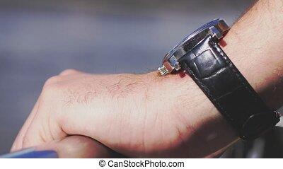3840x2160, haut, watch., poignet, homme affaires, fin