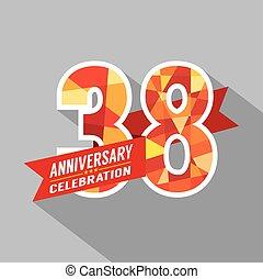 38th, jaren, jubileum, celebration.