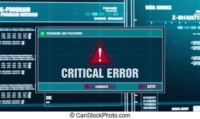 39. Critical Error Warning Notification on Digital Security Alert on Screen.