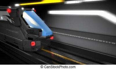 """""""3d, élevé, rendre, vitesse, rail."""""""