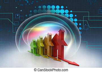 3d, énergie, efficacité, concept