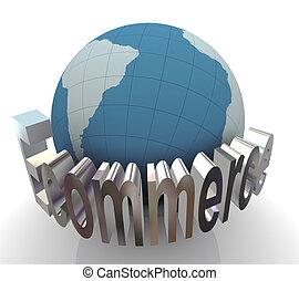 3d , γενική ιδέα , από , ecommerce