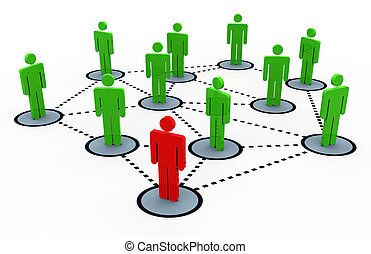 3d , δίκτυο , κοινωνικός