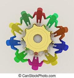 3d , ζεύγος ζώων , δουλειά , μαζί , γενική ιδέα , με , ενδυμασία , να , επιτυχία