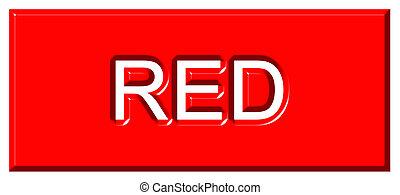 3d , κόκκινο , σήμα