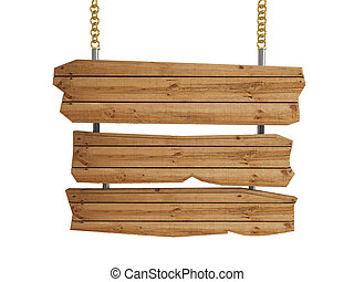3d , ξύλινος , σήμα , board-isolated