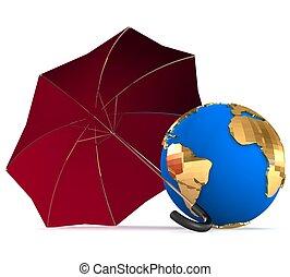 3d , περιβάλλον , προστασία , γενική ιδέα