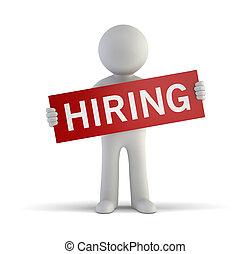 3d, маленький, люди, -, hiring
