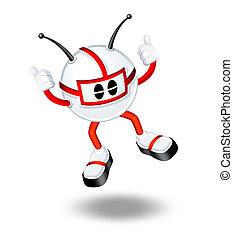 3d, человек, прыжки, иллюстрация