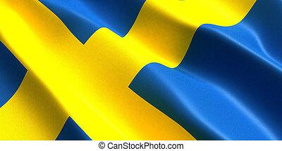 3d, スウェーデンの旗