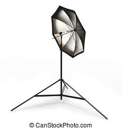 3d, スタジオ, ライト, ∥で∥, 傘