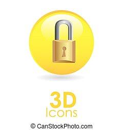 3D, デザイン, アイコン