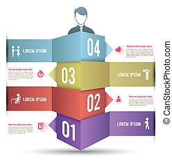 3d, バー, オプション, infographics