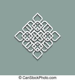 3d, パターン, 中に, アラビア 様式