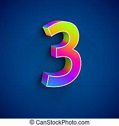 3d, ベクトル, 3, 数