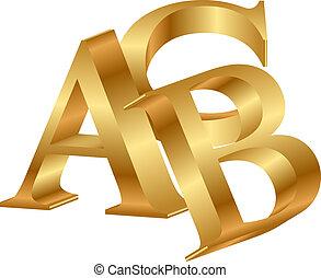 3d, ベクトル, abc, アイコン