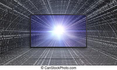 3d, リードした, tv, ディスプレイ, ∥で∥, 色, 対照