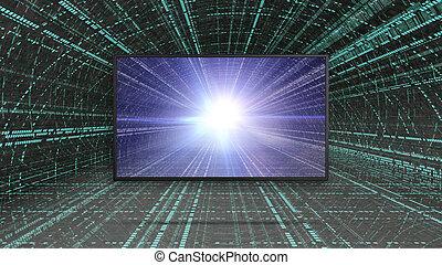 3d, リードした, tv, ディスプレイ, ∥で∥, 色, 白熱, 対照