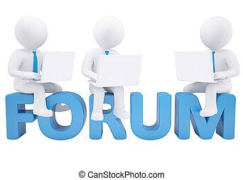 3d, 人間が座る, ∥で∥, a, ラップトップ, 上に, ∥, 単語, フォーラム