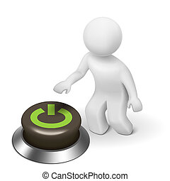"""3d, 人間, 特徴, 人, そして, a, ボタン, ∥で∥, """"power"""""""