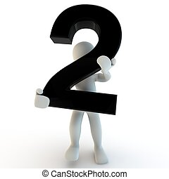 3d, 人間, 特徴, 保有物, 黒, 数2, 小さい, 人々