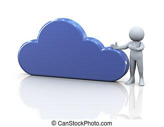 3d, 人, そして, 雲, 計算