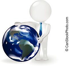 3d, 人, ∥で∥, 地球, 世界地図