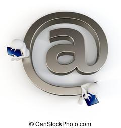 3d, 人, 発送, 電子メール, ∥で∥, a, tabletpc
