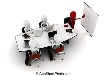 3d, 会议, 企业家