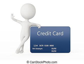 3d, 似人机器人, 字, 由于, a, 信用卡