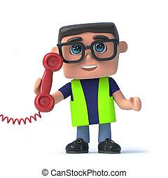 3d, 保健及び安全性, 労働者, 答え, ∥, 電話